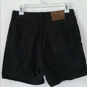 Vintage Calvin Klein black high waisted shorts 8